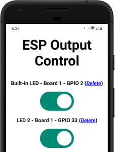 Control ESP32 ESP8266 from Anywhere switches buttons outputs GPIOs pins demonstration