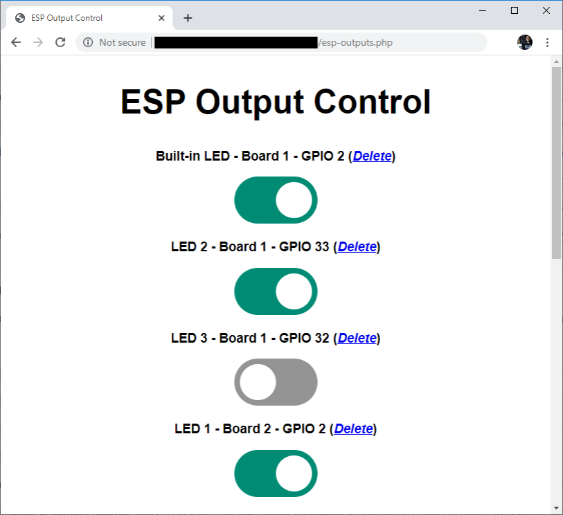 Control ESP32 ESP8266 from Anywhere switches buttons outputs GPIOs pins