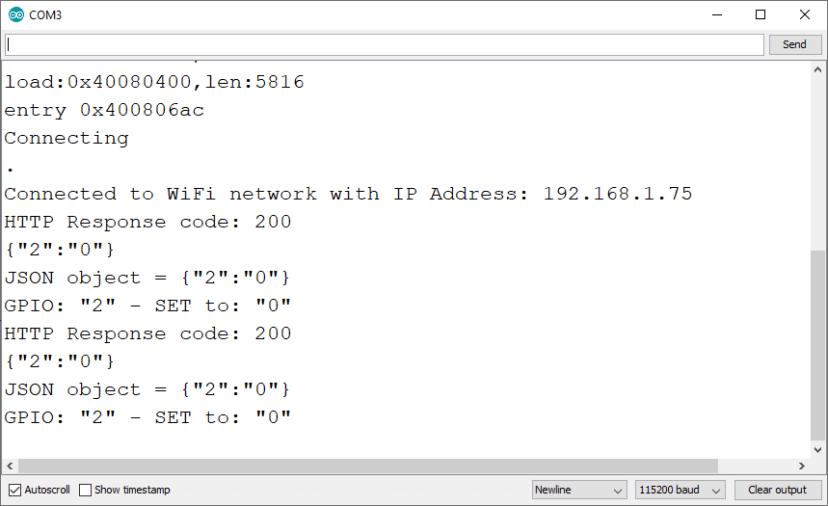 ESP32 Arduino IDE Serial Monitor Example