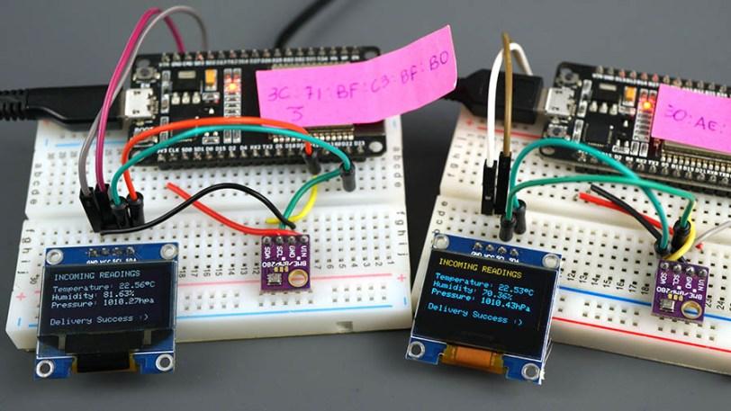 ESP32 ESP-NOW Protocol Exchange Data Demonstration