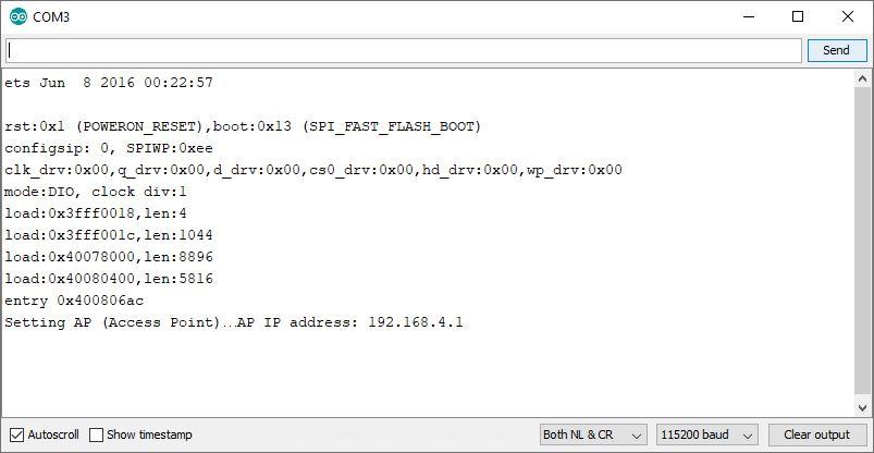 Testing the ESP32 Server Serial Monitor Arduino IDE