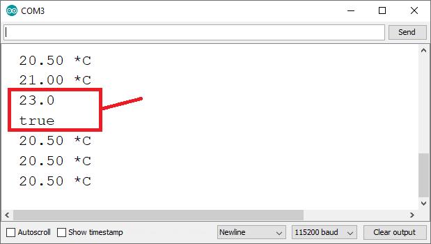 ESP32 ESP8266 Change temperature threshold on web server