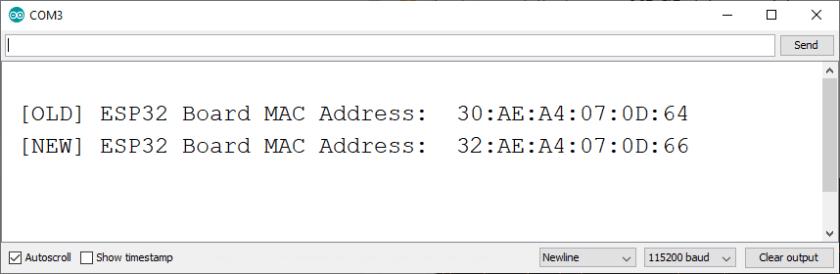 Change and Set ESP32 MAC Address with Arduino IDE