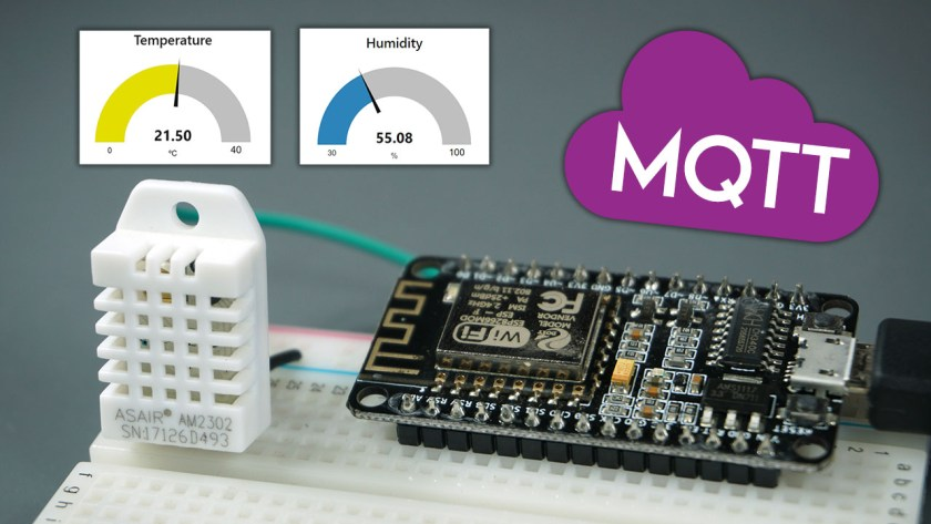 ESP8266 NodeMCU MQTT Publish DHT22 or DHT11 Sensor Readings Arduino IDE
