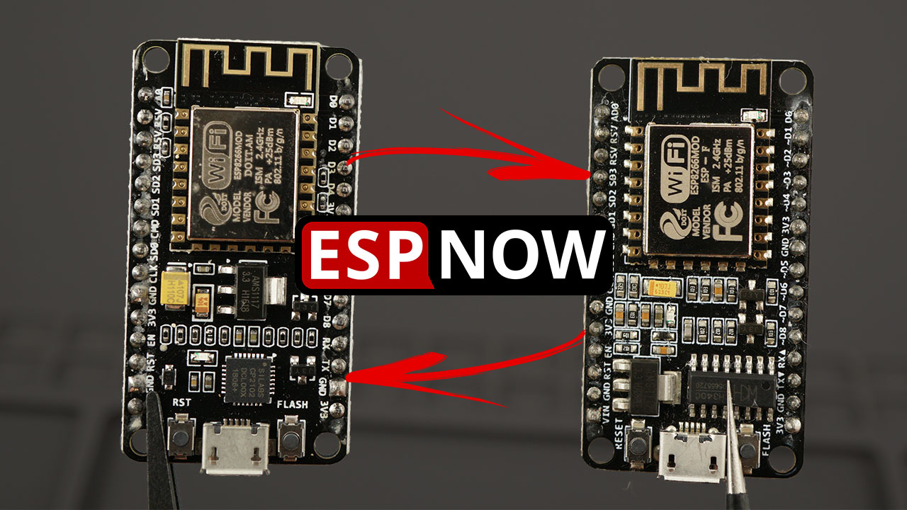 ESP-NOW Two-Way Communication Between ESP8266 NodeMCU Boards