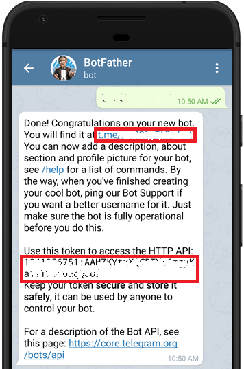 Telegram BotFather Get Bot Token