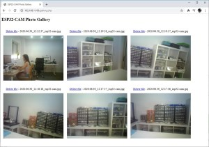 ESP32-CAM Camera Photo Gallery view PHP file