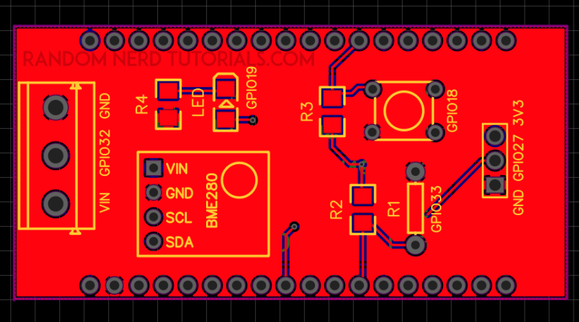 ESP32 IoT Shield PCB Schematic footprints