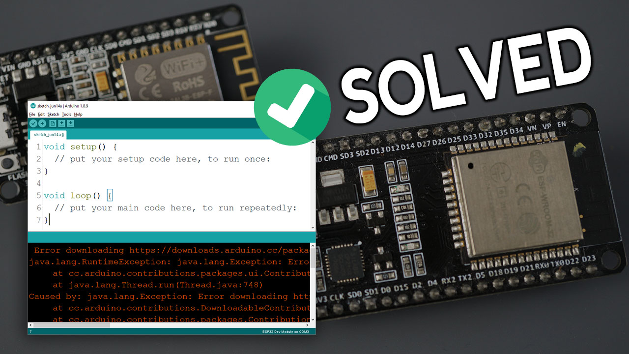 Solved fix Arduino IDE installation esp32 esp8266 nodemcu board add-on error downloading urls