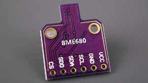 BME680 Gas sensor humidity barometric pressure ambient temperature gas air quality back