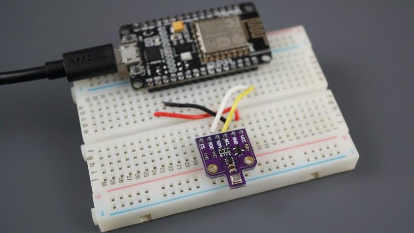 ESP8266 NodeMCU BME680 Gas sensor humidity barometric pressure ambient temperature gas air quality Arduino IDE