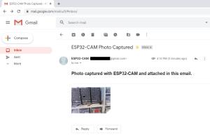 ESP32 CAM Send Photo To Email Gmail Inbox