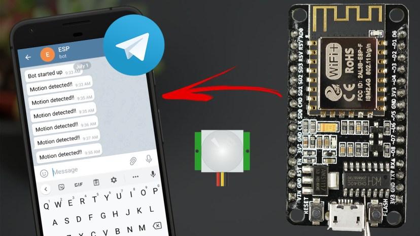 ESP8266 NodeMCU PIR Motion Sensor Telegram Send Message Notification Arduino