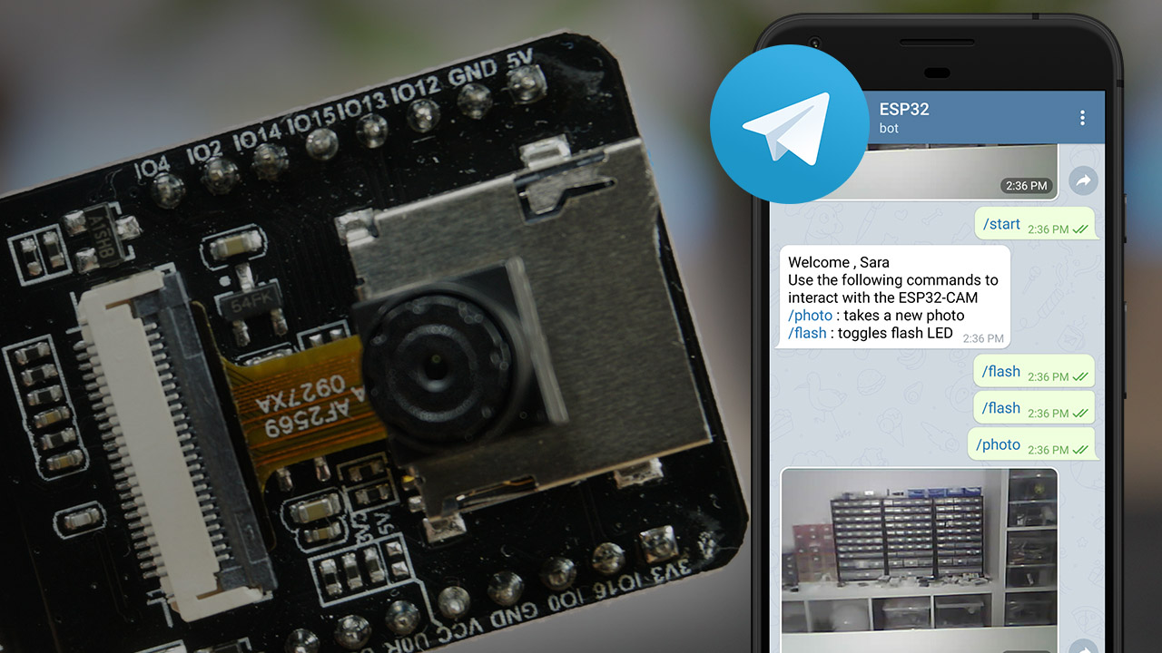 ESP32-CAM Take and Send Photo to Telegram App using Arduino IDE