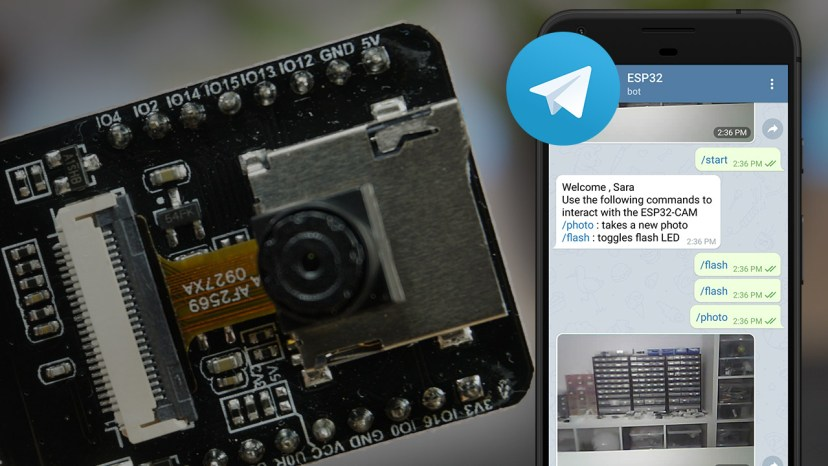 ESP32-CAM: Take and Send Photo to Telegram App using Arduino IDE