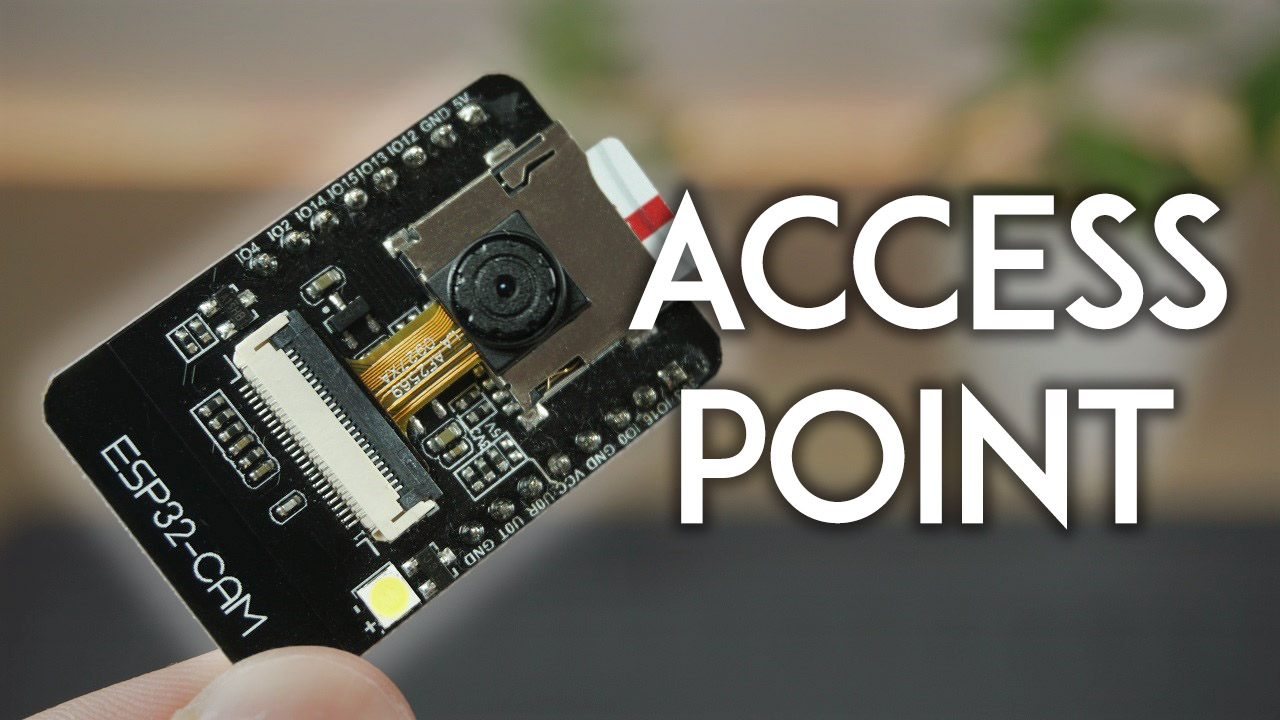 ESP32-CAM Set Access Point AP for Web Server Arduino IDE