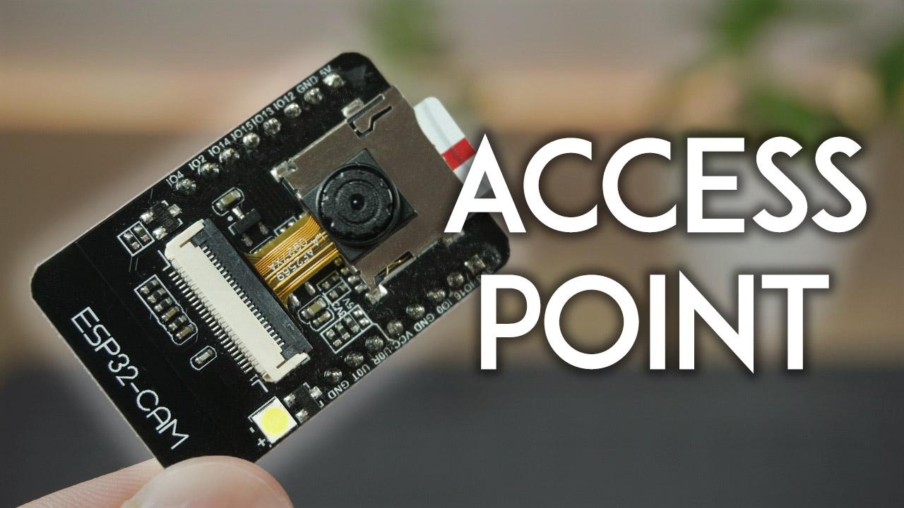ESP32-CAM Set Access Point AP for Web Server Arduino IDE