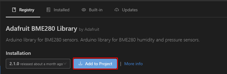 PlatformIO with VS Code Add Library to Project