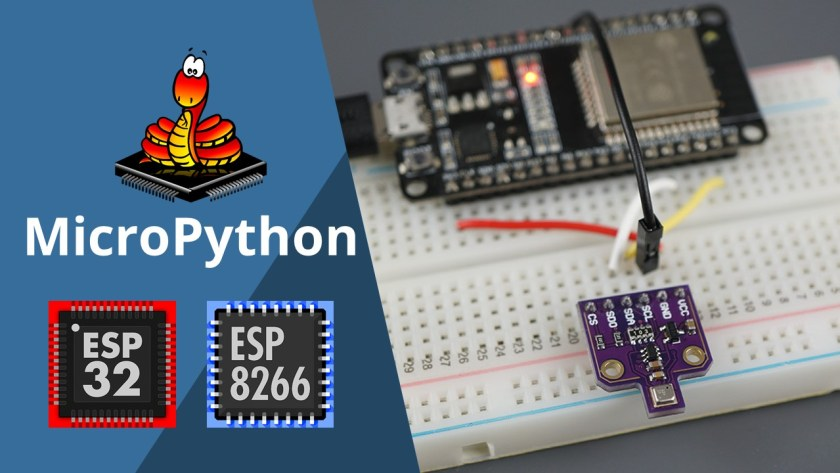 MicroPython BME680 with ESP32 and ESP8266 Temperature Humidity Pressure Gas Air Quality