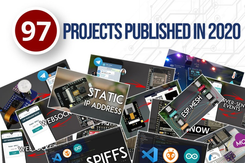 Number of published projects 2020 Random Nerd Tutorials