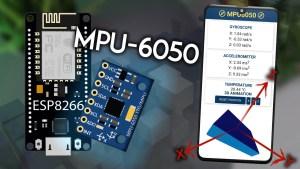 ESP8266 NodeMCU Web Server MPU-6050 Accelerometer Gyroscope 3D object representation Arduino