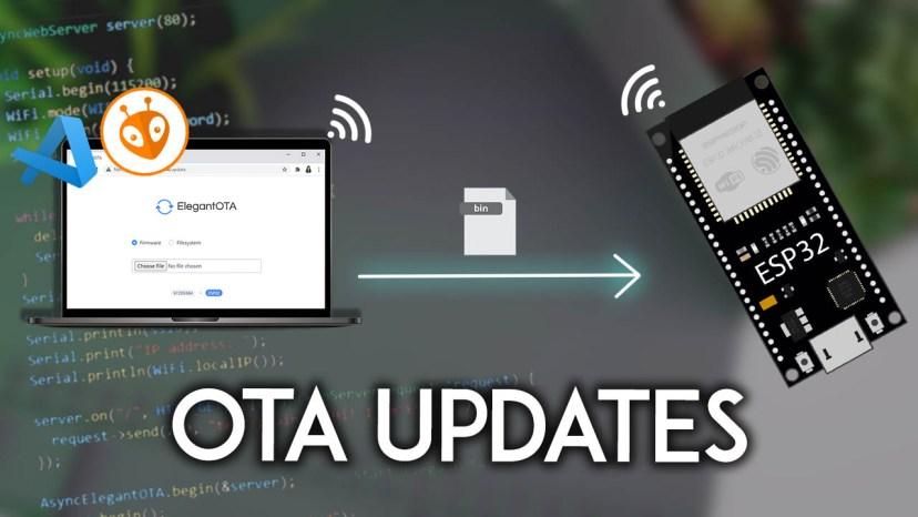 ESP32 OTA Over-the-Air Updates AsyncElegantOTA VS Code  PlatformIO
