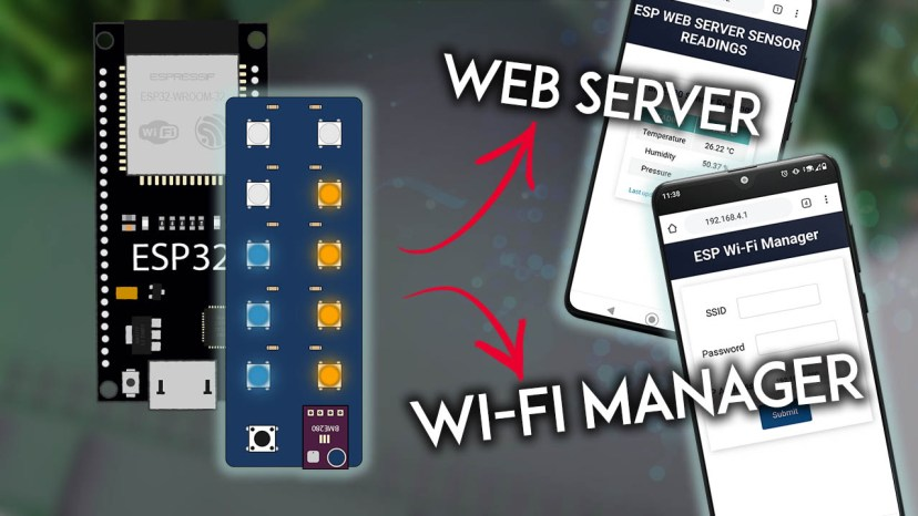 ESP32 Neopixel Status Indicator and Sensor PCB Shield with Wi-Fi Manager
