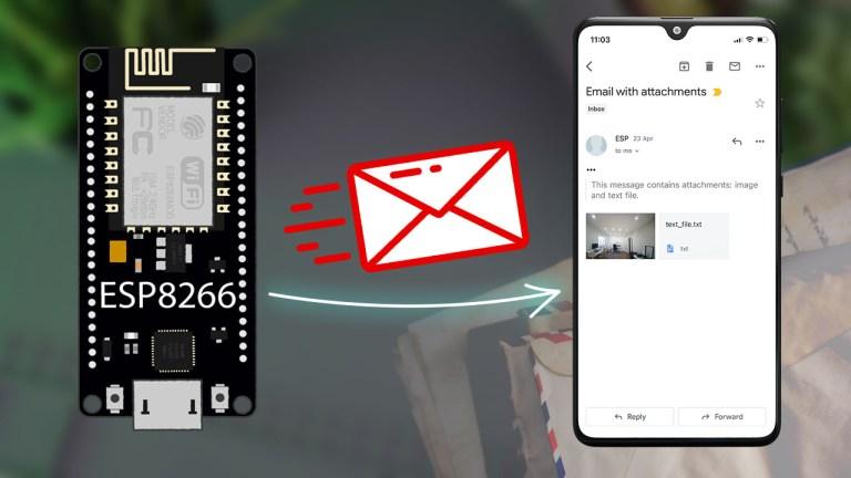 ESP8266 NodeMCU Send Emails using an SMTP Server HTML Text and Attachments Arduino IDE