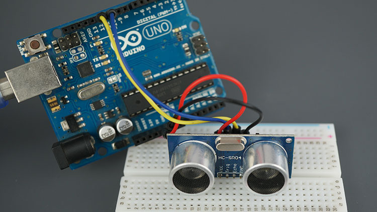 Arduino UNO Board HC-SR04 Ultrasonic Sensor Module Arduino Demonstration