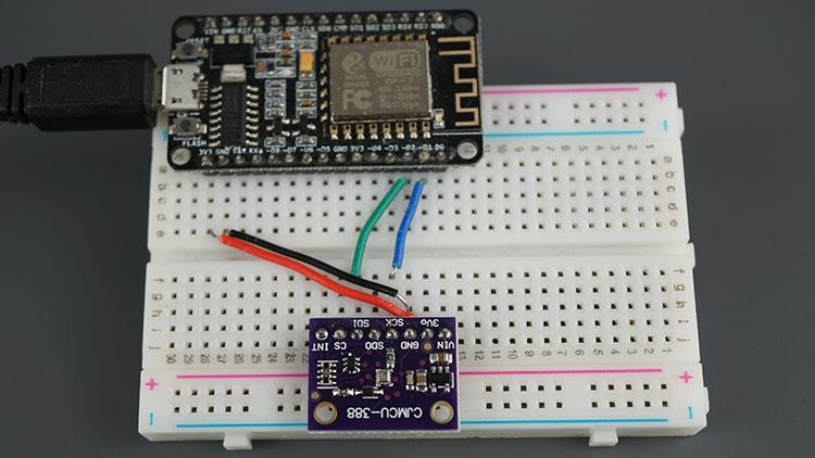 ESP8266 NodeMCU BMP388 Sensor Altitude Pressure Temperature Arduino