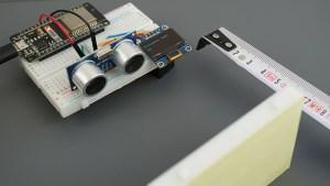 MicroPython ESP32 ESP8266 NodeMCU Board HC-SR04 Ultrasonic Sensor Module Arduino OLED Parts Required