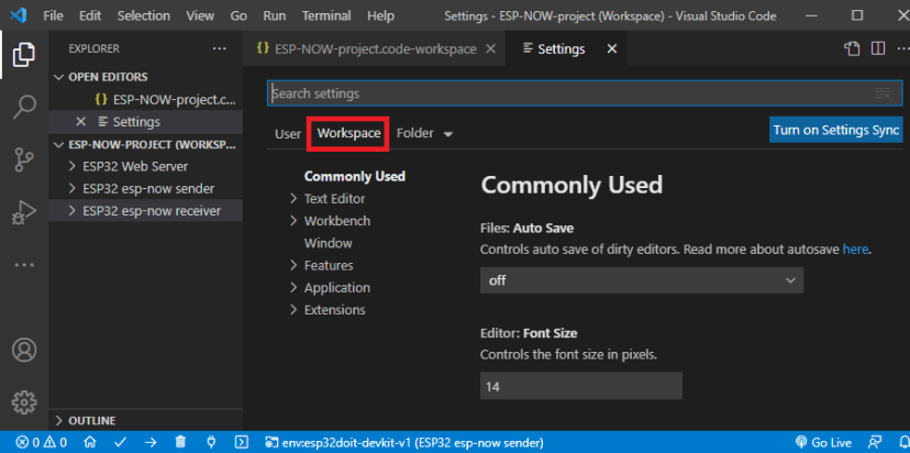 VS-Code Workspace File Example with Multiple Folders