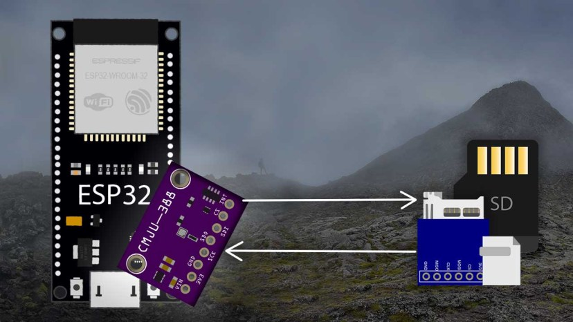 Altimeter Datalogger ESP32 with BMP388 MicroSD Card Storage and OLED Display