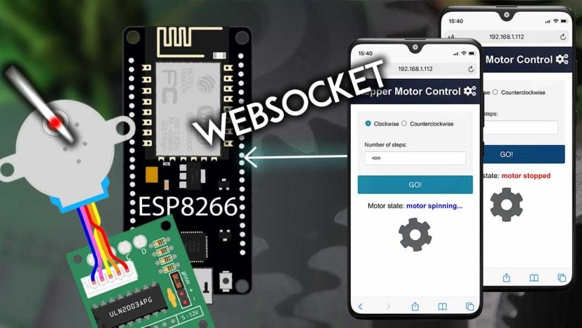 ESP8266 NodeMCU Web Server Control Stepper Motor WebSocket Arduino IDE