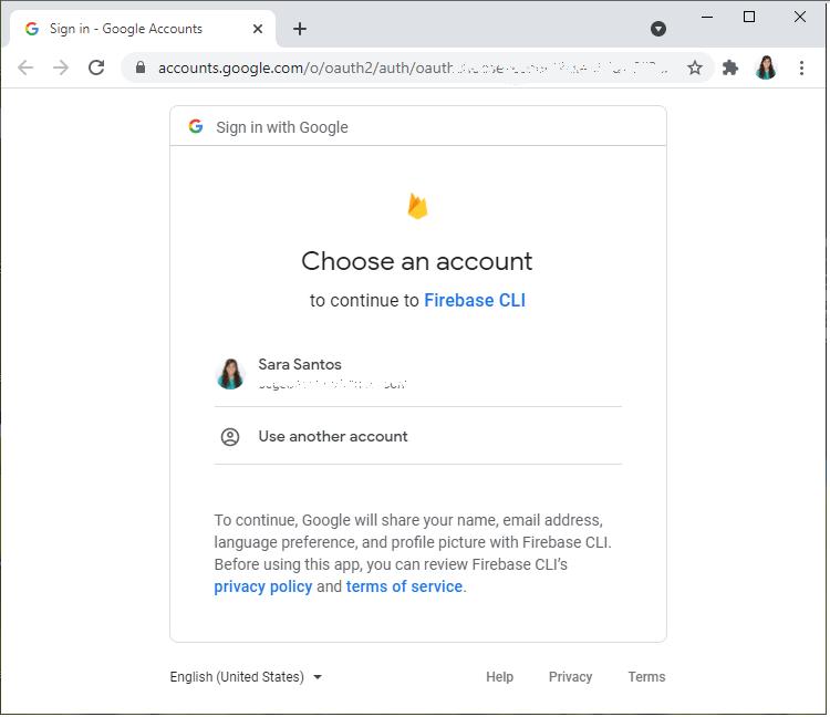 Login Firebase Account