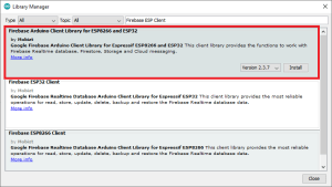 Install Firebase ESP Client Library