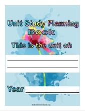 Flower Unit Planner Cover Image @randomnestfamily.org