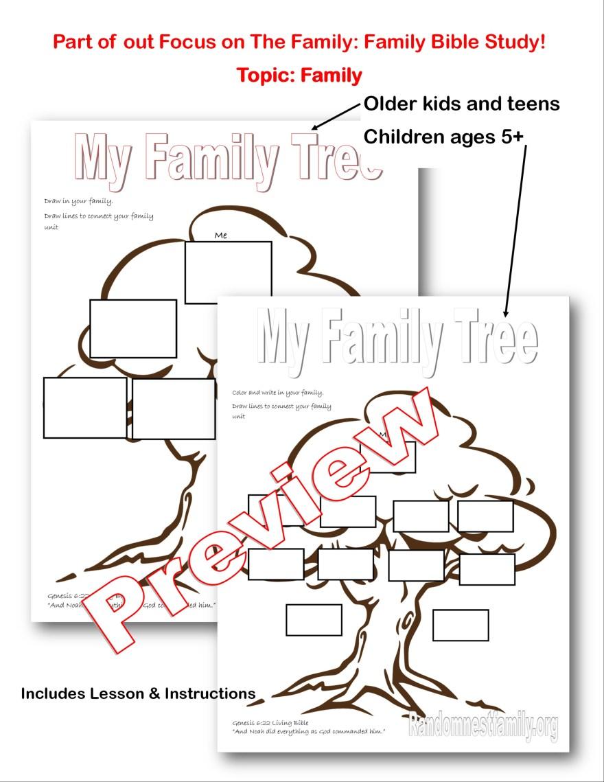 Family tree lesson plan on Randomnestfamily.org
