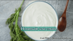 Homemade sourcream, Randomnestfamily