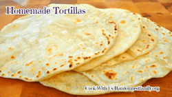 Homemade tortillas on a plate at Randomnestfamily