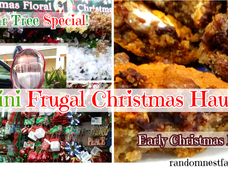 Mini frugal Christmas Shopping and early Christmas baking
