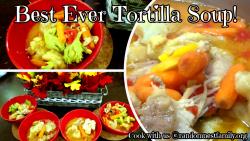 Homemade Tortilla Soup @randomnestfamily.org