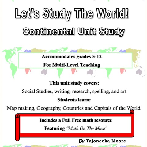 Lets Study The World -Continental Unit Study @randomnestfamily.org