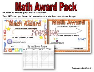 Math award pack @randomnestfamily.org