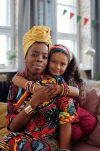 Black mom and daughter