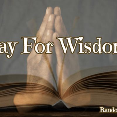 praying hands over the Bible @randomnestfamily.org
