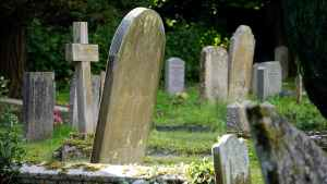 Grave yard and tomb stones