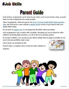 Job skills for kids: Parent Guide Randomnestfamily.org