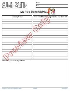 Job skills for kids: are you Dependable? Randomnestfamily.org