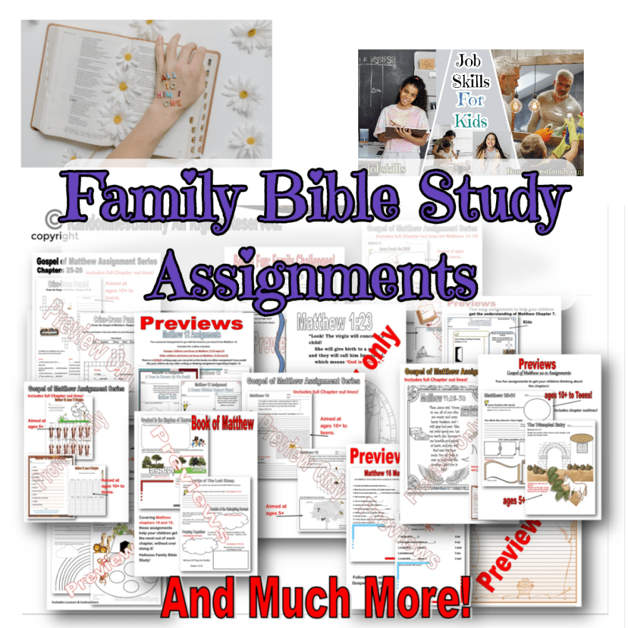 Assignments in family Bible study @randomnestfamily